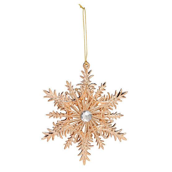 Christmas Tartan 3D Snowflake Ornament - Assorted - 5.5in