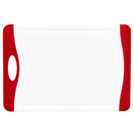 London Drugs Cutting Board - White/Red - 29 x 20 x 0.9cm