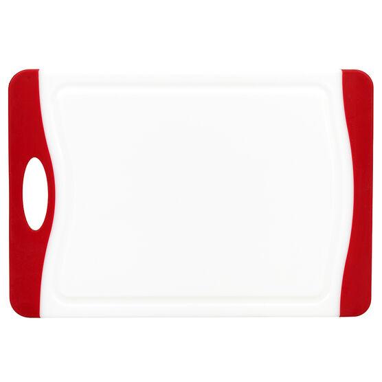 London Drugs Cutting Board - White/Red - 29 x 20 x 0.9cm