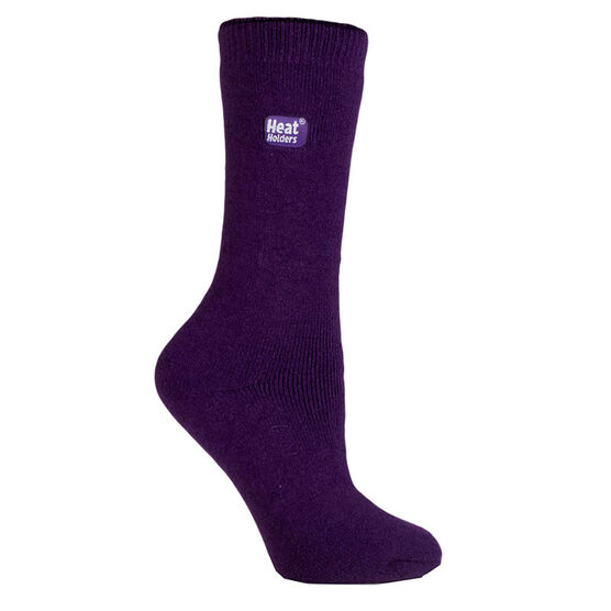 Heat Holders Ladies Lite Crew Sock - Purple