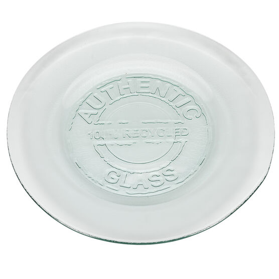 London Drugs Green Glass Authentic Plate - 28cm