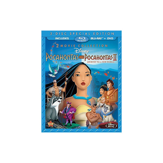 Pocahontas and Pocahontas II: Journey To A New World - Blu-ray + DVD