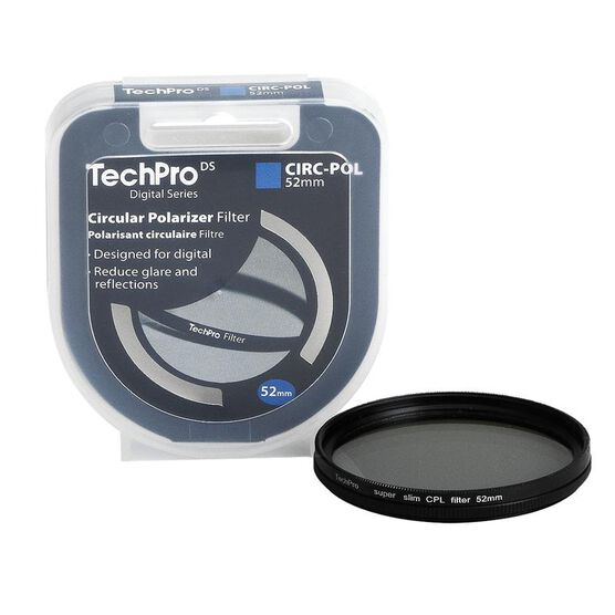 TechPro DS 52mm Circular Polarizer Filter - FIMSCPBL52-CB