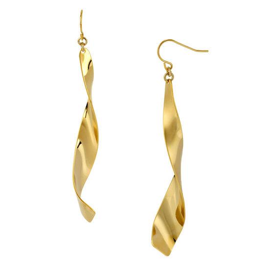 Robert Lee Morris Twist Drop Earrings - Gold
