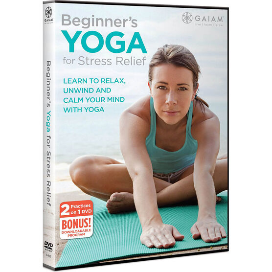 Gaiam Beginners Yoga For Stress Relief - DVD