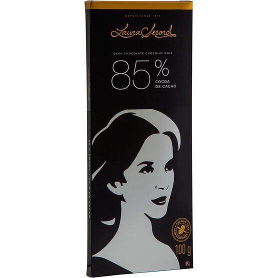 Laura Secord Extra Dark Chocolate Bar - 85% Cocoa - 100g