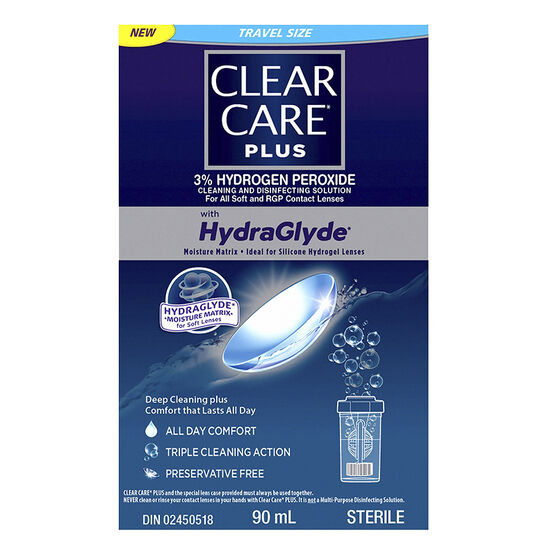 Clear Care Plus Cleaning and Disinfecting Solution - 90ml