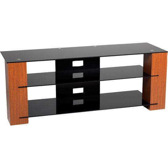 "TechPro TV Stand for TVs up to 70"" - Black/Walnut - SG1330B"