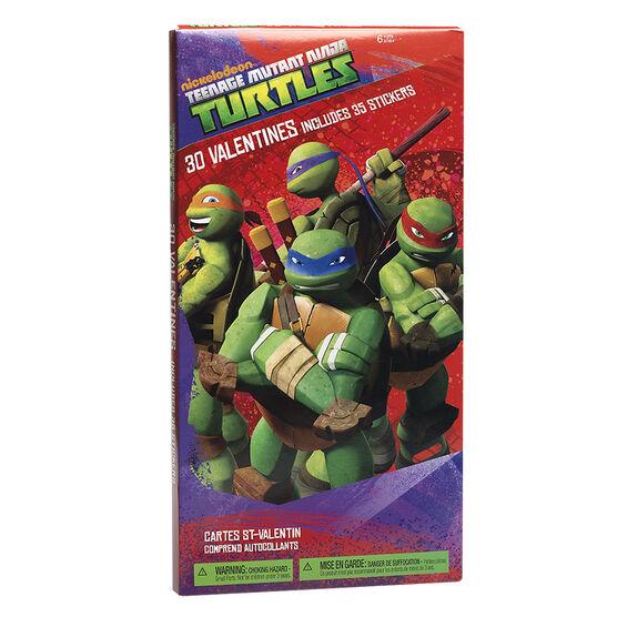 Plus Mark Valentine Cards - Teenage Mutant Ninja Turtles - 30's