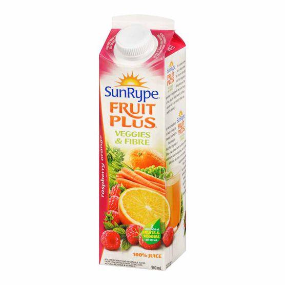 SunRype Fruit Plus Juice - Raspberry Orange - 900ml