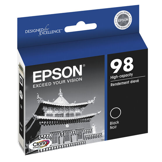 Epson 98 Claria Hi-Definition Ink 98 High-Capacity Ink Cartridge - Black - T098120-S