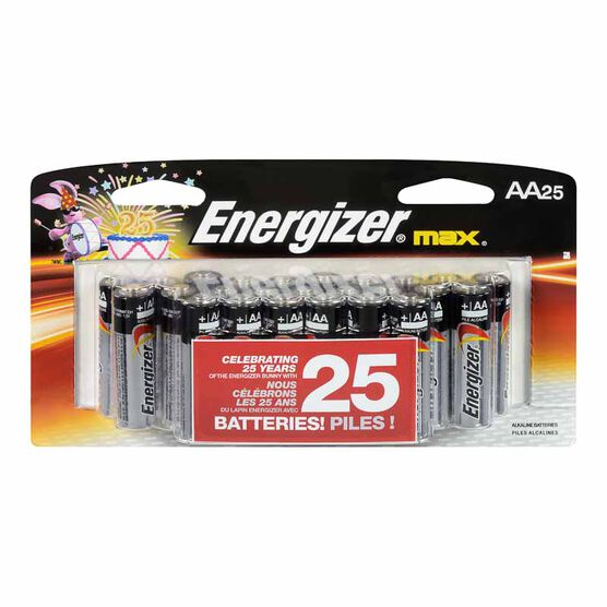 Energizer Max AA Batteries - 25 pack