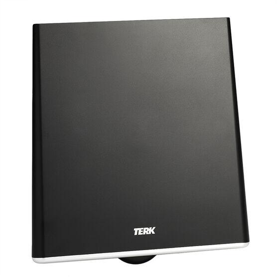 Terk Flat Amplified TV Antenna - Black - CFDTV1A