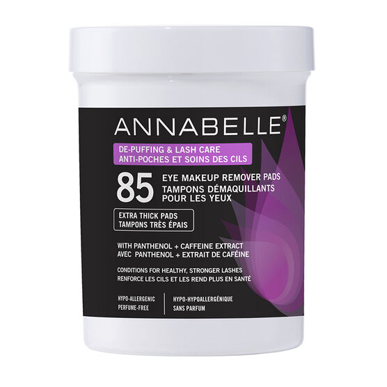 Annabelle Eye Makeup Remover Pads - De-Puffing & Lash Care - 85's
