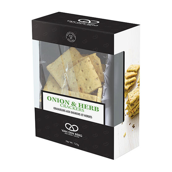 Van Den Berg Onion & Herb Crackers - 125g