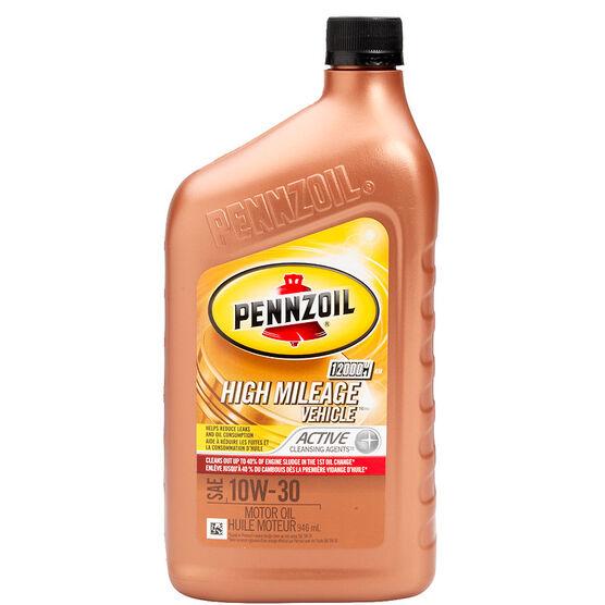 Pennzoil High Mileage Motor Oil 10w30 946ml London Drugs