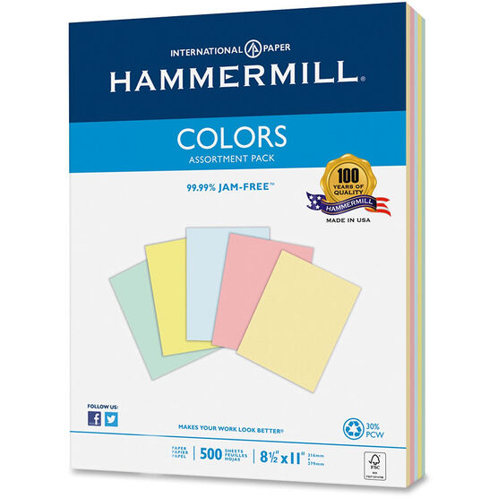 Hammermill Copy Paper Pastel Colours - 24 lbs - 500 Sheets