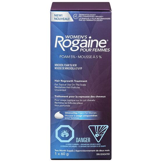 Rogaine Women's Hair Regrowth Treatment - 5% Minoxidil Foam W/W - 60g