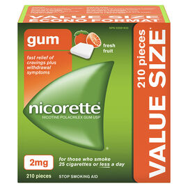 Nicorette Gum - Fresh Fruit - 2mg - 210's