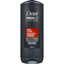 Dove Men+Care Deep Clean Micro Moisture Body + Facewash - 400ml