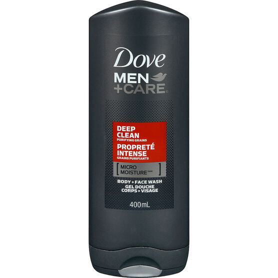 Dove Men+Care Deep Clean Micro Moisture Body + Facewash - 400ml