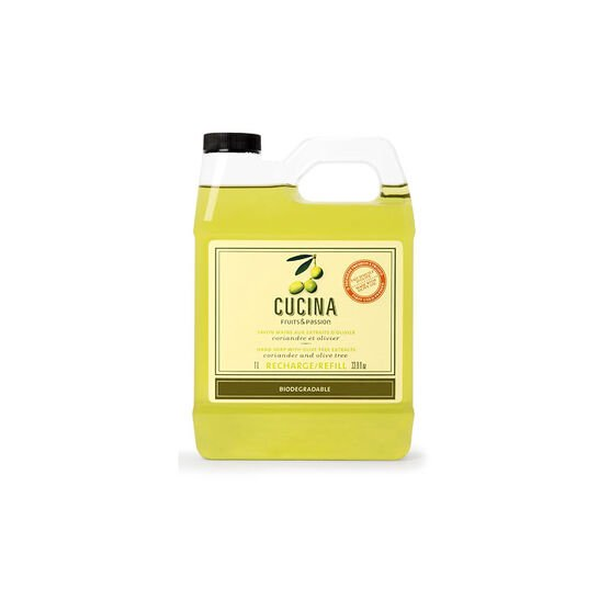 Fruits & Passion Cucina Hand Soap Refill - Coriander and Olive Tree - 1L