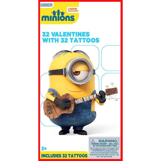 Minions Tattoo Valentines - 32s - 4153735