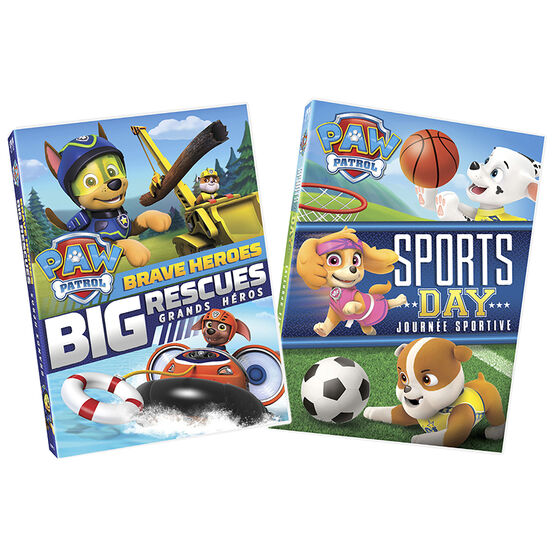 PAW Patrol: Brave Heroes Big Rescues + Sports Day - DVD
