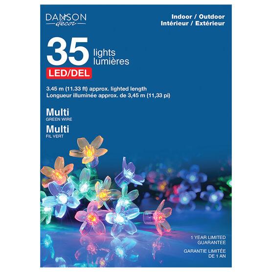 Danson Cherry Blossom LED Lights - 35's - Multicolour - X77340