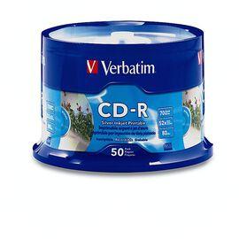 Verbatim 80min 700MB 52X Silver Inkjet Printable Recordable Disc - 50 pack
