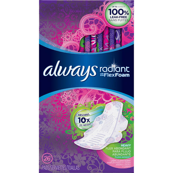 Always Radiant Pads - Heavy - 26's