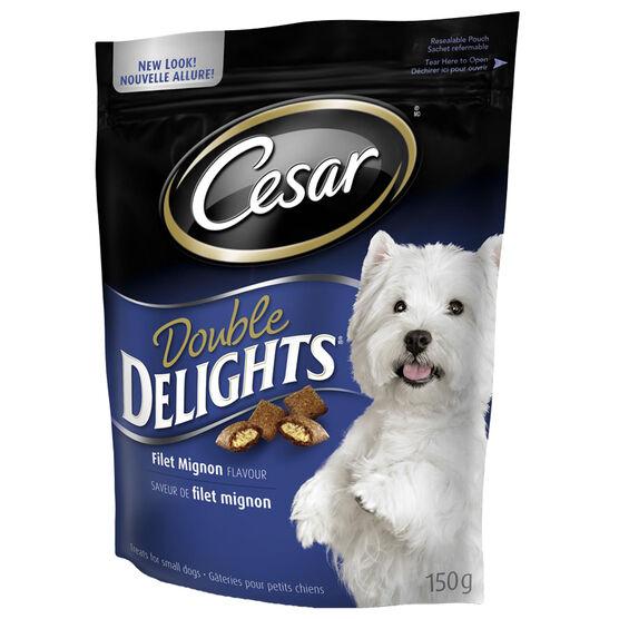 Cesar Double Delights Filet Mignon Flavour Treats - 150g