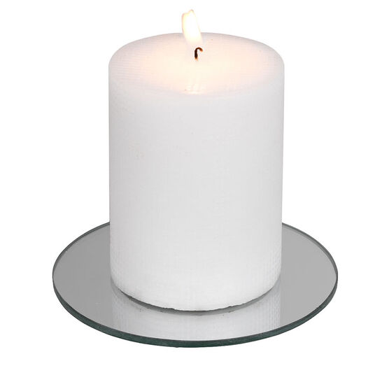 Kiera Grace Mirror Round Candle Plate - 5inch
