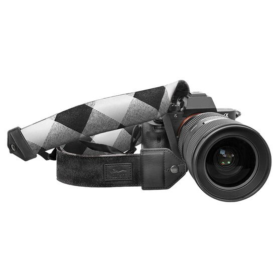Roots 73 Flannel Collection Reversible DSLR Strap - Black - RBSTRAP