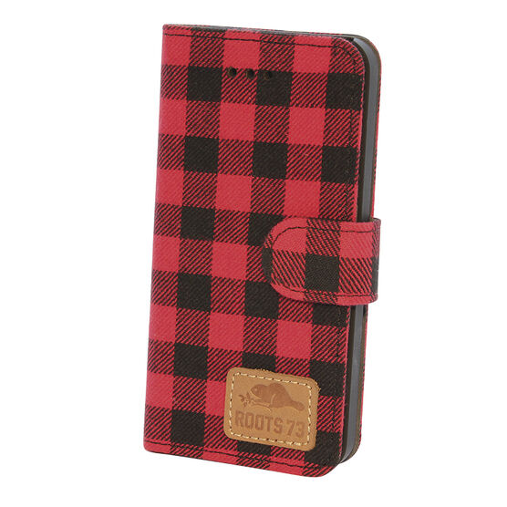 Roots 73 Plaid Folio Case for iPhone 6s/7 - Red/Black - RPLDIP67R