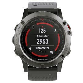 Garmin Fenix 5X Sapphire Watch - Slate Gray with Black Band - 0100173305