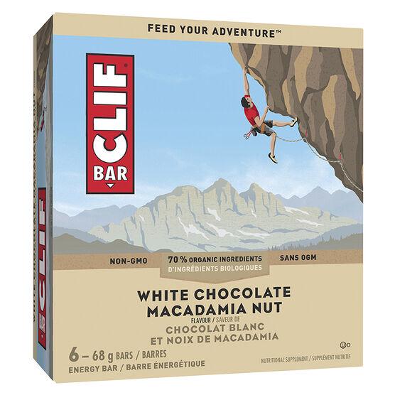 Clif Bar - White Chocolate Macadamia - 6 x 68g