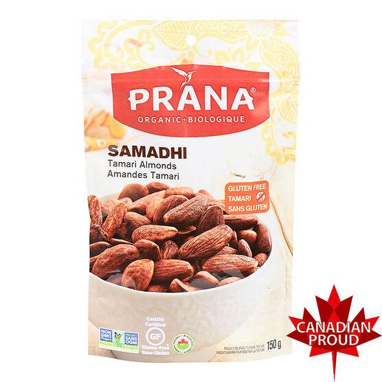 Prana Organic Almonds - Samadhi Tamari - 150g