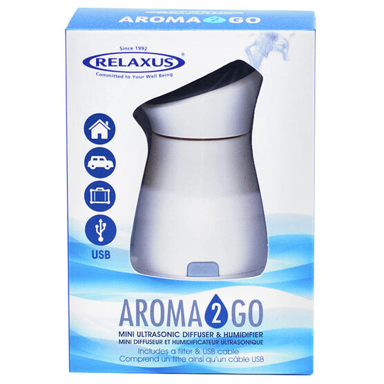 Relaxus Aroma 2 Go Mini Ultrasonic Diffuser & Humidifier - 517187