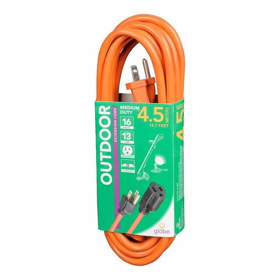 Globe 1 Outlet Extension Cord