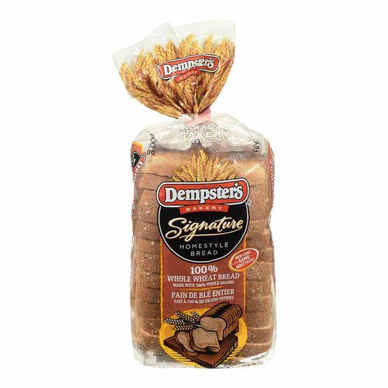 Dempster's Original 100% Whole WheatBread- 600g