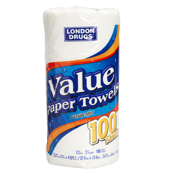 London Drugs Value Paper Towel - 100 sheets