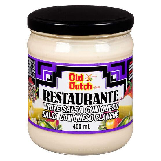 Old Dutch Restaurante White Salsa with Queso - 400ml