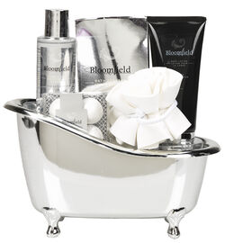 Bloomfield Bath Caddy Gift Set - Frosted Cotton Bloom - 5 piece