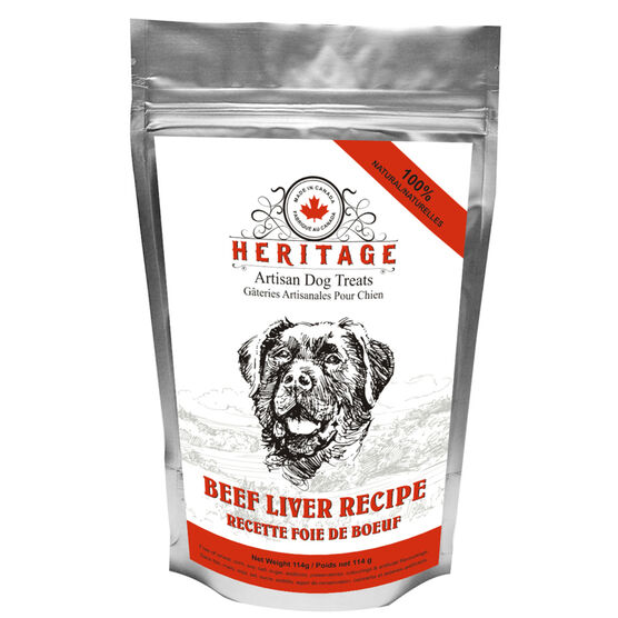 Heritage Artisan Dog Treats - Beef Liver - 114g