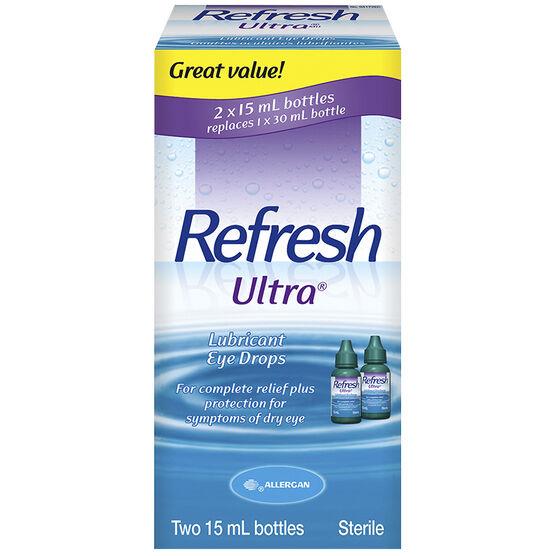 Refresh Ultra Lubricant Eye Drops - 2x15ml