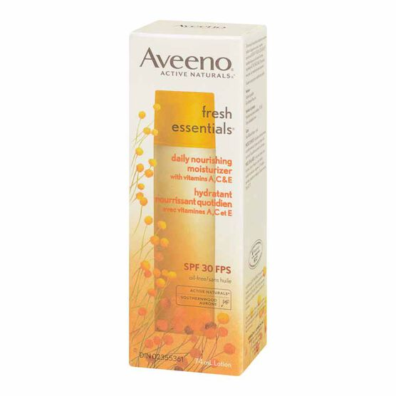 Aveeno Fresh Essentials Nourishing Moisturizer - SPF 30 - 74ml