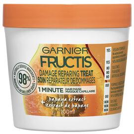 Garnier Fructis Smooth Treat 1 Minute Hair Mask - Papaya - 100ml