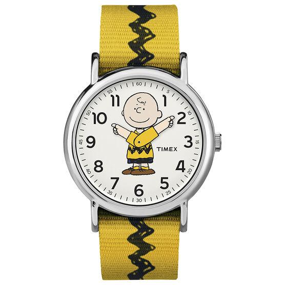 Timex x Peanuts Weekender Watch - Charlie Brown - TW2R41100JT