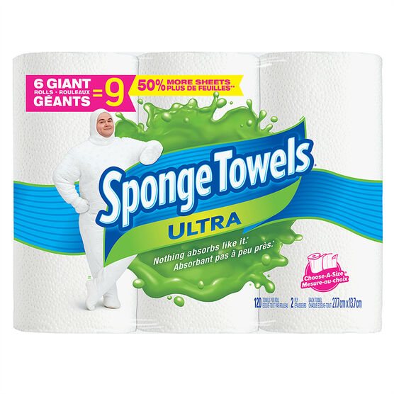 SpongeTowels Ultra - 6's